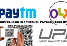 Online Fraud on OLX through Paytm QR Code UPI Pay